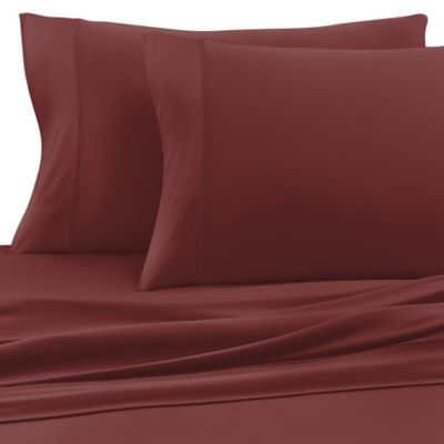 Sheex® Experience Twin Performance Fabric Sheet Set in Burgundy