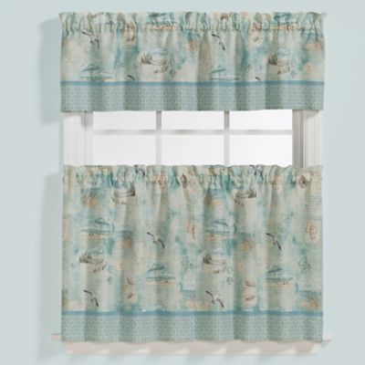 Blue Multi Curtain Valance