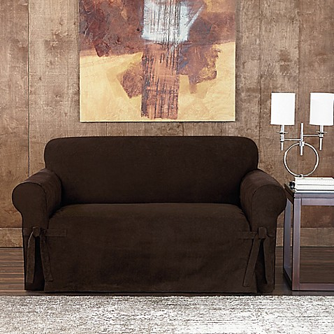 Buy Sure Fit 174 Designer Sueded Twill Loveseat Slipcover In