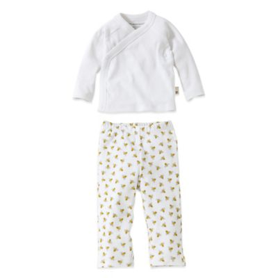 Burt's Bees Baby® Size 18M 2-Piece Organic Cotton Kimono and Footless Pant Set
