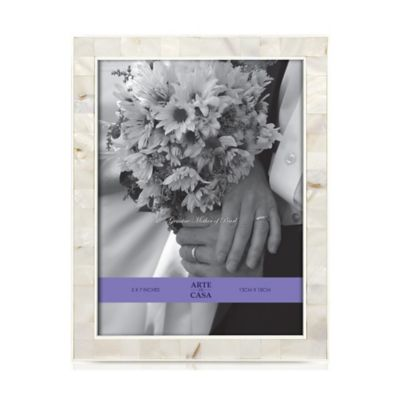 Argento Sweetheart Mother of Pearl 5-Inch x 7-Inch Wedding Photo Frame