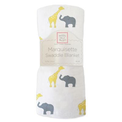 SwaddleDesigns® Safari Fun Marquisette Swaddling Blanket in Yellow