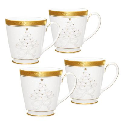 Noritake® Crestwood Gold Holiday Accent Mug (Set of 4)