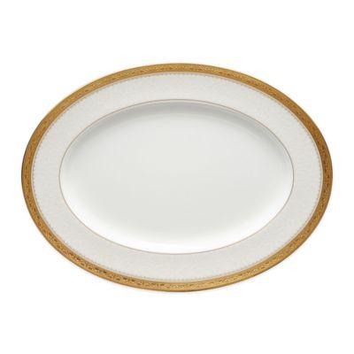 Noritake® Odessa Gold 12-Inch Oval Platter