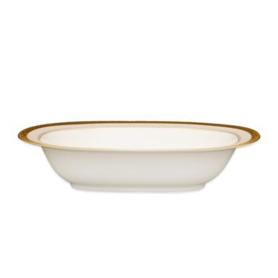 Odessa Gold Oval Vegetable Bowl