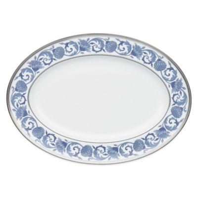 Blue 16-Inch Oval Platter
