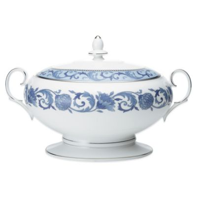 Noritake® Sonnet in Blue Covered Vegetable Bowl