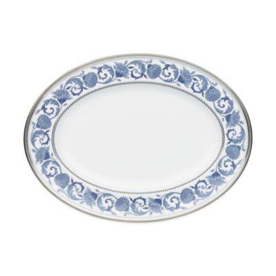 12 Blue Oval Platter