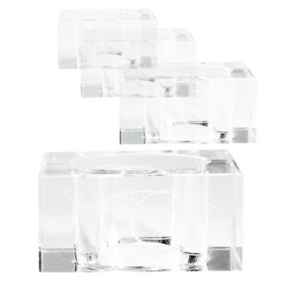 Clear Glass Napkin Rings
