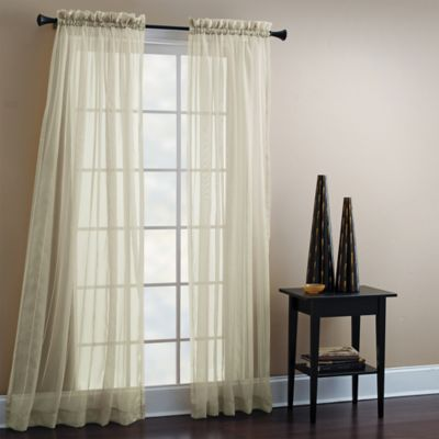 Croscill® 84-Inch Sheer Mist Tailored Window Curtain Panel in Blue