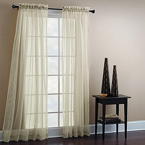 Croscill 84 Inch Sheer Mist Tailored Window Curtain Panel Bed Bath Beyond