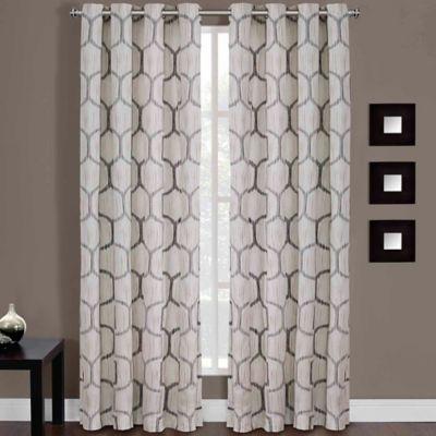 Buy Sherry Kline Faux Silk Grommet Top 84 Inch Window