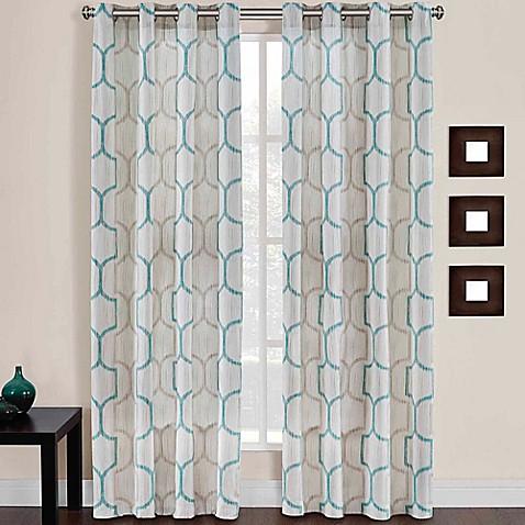 Buy Portinari Grommet Top 84 Inch Window Curtain Panel In