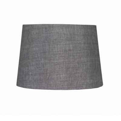 9-Inch Linen Hardback Drum Lamp Shade in Grey