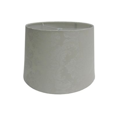 9-Inch Jacquard Hardback Drum Lamp Shade in Beige
