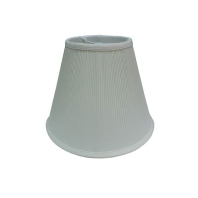 11-Inch Crystal Pleat Softback Lamp Shade in Ivory