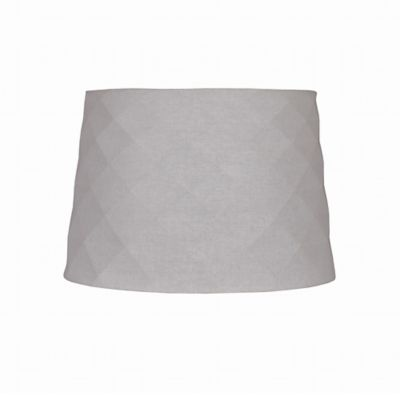 Mix & Match Small 7-Inch Linen Hardback Drum Lamp Shade in Off-White