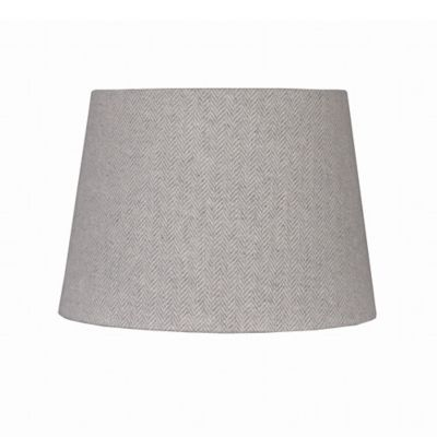 Mix & Match Small 7-Inch Herringbone Hardback Drum Lamp Shade in Grey