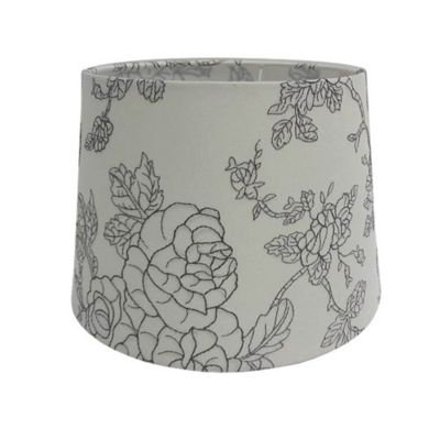 Mix & Match Small 7-Inch Flower Print Hardback Drum Lamp Shade