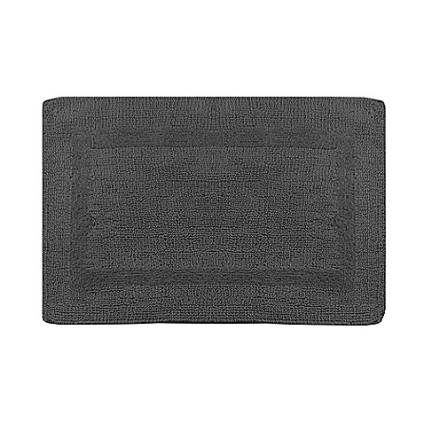 Wamsutta® Reversible 24-Inch x 40-Inch Bath Rug in Pewter
