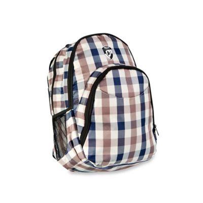 Heys® Atmosphere™ Laptop Backpack in Brown/Blue Check