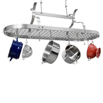 Enclume® Scroll Arm Oval Wall Rack in Brushed Stainless Steel Finish