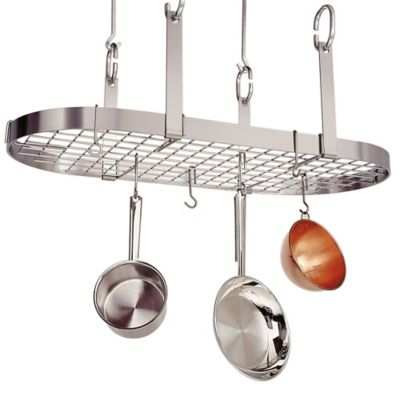 Enclume® 4-Point Oval Rack with Grid in Stainless Steel Finish