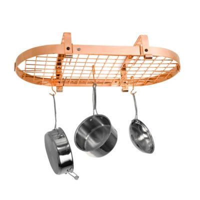 Enclume® Low Ceiling Oval Rack with Grid in Copper