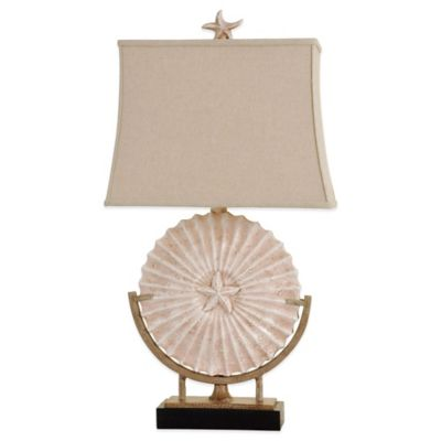Sand Dollar and Starfish Table Lamp with CFL Bulb