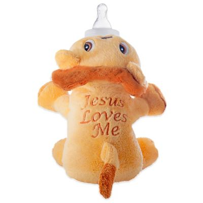 "Bottle Accessories > Leo the Lion ""Jesus Loves Me"" Bottle Pet"