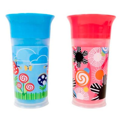 Sassy® 2-Pack 9 oz. Insulated Grow Up Cup in Pink/Blue