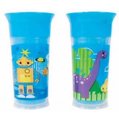 Sassy® 2-Pack 9 oz. Insulated Grow Up Cup in Blue