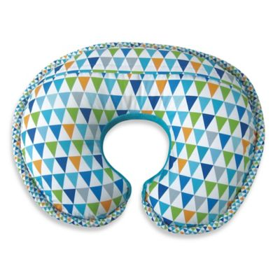 Boppy® Luxe Pillow with Reversible Slipcover in Happy Turquoise