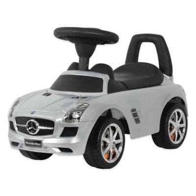 Licensed Mercedes SLS AMG Push Car in Silver