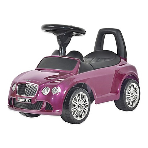 licensed bentley continental gt push car in purple. Black Bedroom Furniture Sets. Home Design Ideas