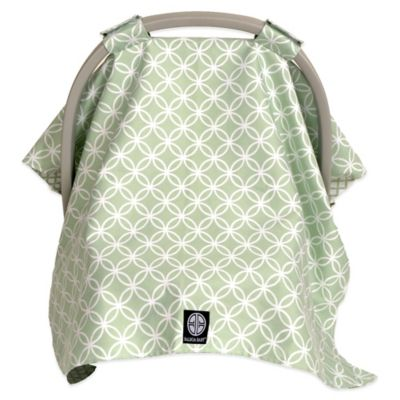 Balboa Baby® Car Seat Canopy in Sage/White Circle