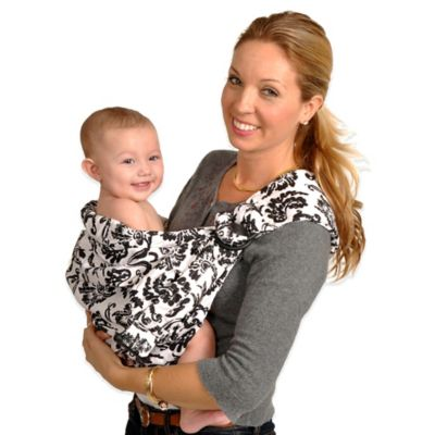 Balboa Baby® Dr. Sears Original Adjustable Baby Sling in Black/Off White Paris