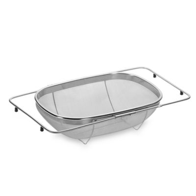Expandable Over-the-Sink Stainless Steel Strainer