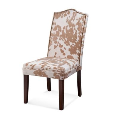 Bassett Mirror Company Camelback Nailhead Parsons Dining Chairs in Palomino (Set of 2)