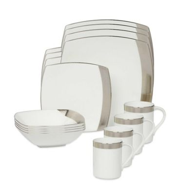 Mikasa® Ridge Platinum 16-Piece Dinnerware Set
