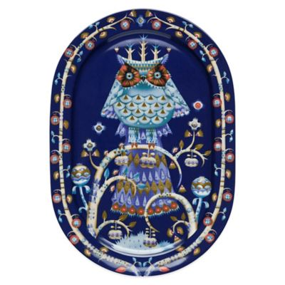 Iittala Taika Oval Platter in Blue