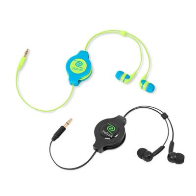 ReTrak Retractable Earbuds in Blue