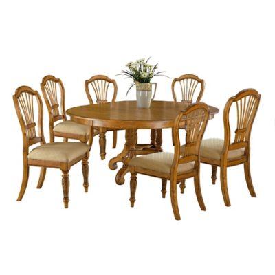 Hillsdale Wilshire 7-Piece Round Dining Set in Antique Pine