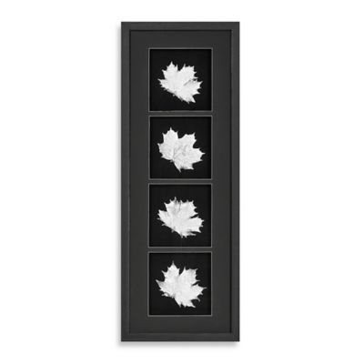 Silver Foil Leaf Shadowbox Wall Panel
