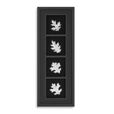 Silver Foil Oak Leaf Shadowbox Wall Panel
