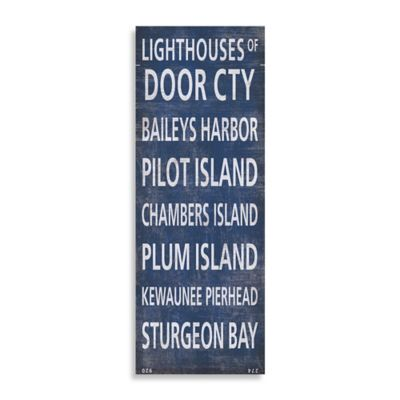 Lighthouses of Door County Canvas Wall Art