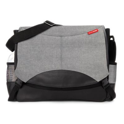 SKIP*HOP® Swift Changing Station Diaper Bag in Heather Gray/Black