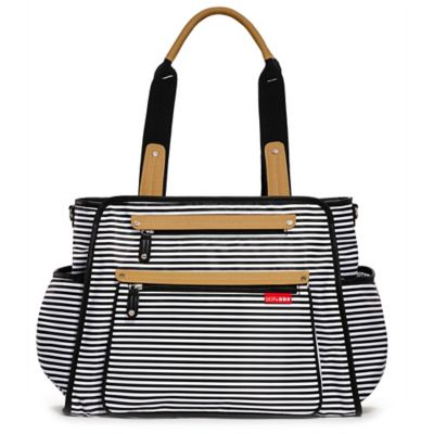 SKIP*HOP® Grand Central Take-it-All Diaper Bag in Black Stripe