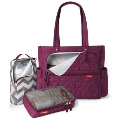 SKIP*HOP® Forma Pack & Go Diaper Tote in Berry