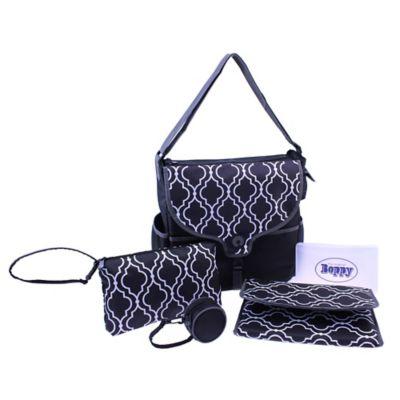 Boppy™ Vail Metro Diaper Bag in Black/White